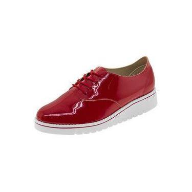 471fd74be Sapato Feminino Oxford Vermelho Beira Rio - 4174101
