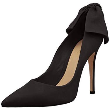 SCHUTZ Sapato feminino Blasiana Bow Point Toe Pump, Preto, 8.5