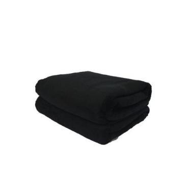 Imagem de Cobertor Microfibra Plush Preto - Cobertores Parahyba
