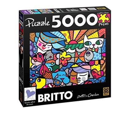 Imagem de Quebra-Cabeças Romero Britto'Sgarden 5000 Peças Grow