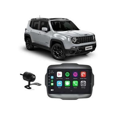 Central Multimídia Jeep Renegade Pcd 2015 A 2020 9 Polegadas Full Glass Sistema Android Quadcore 16Gb Espelhamento Gps Aplicativos + Câmera De Ré