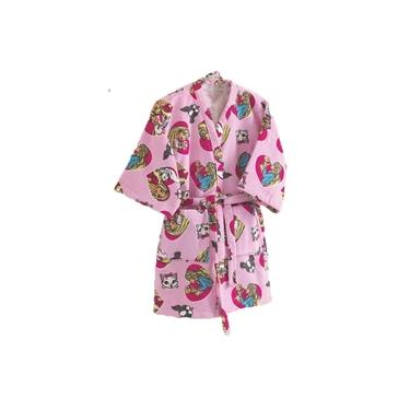 Roupão Infantil Velour Barbie Moranguinho Doher Menina