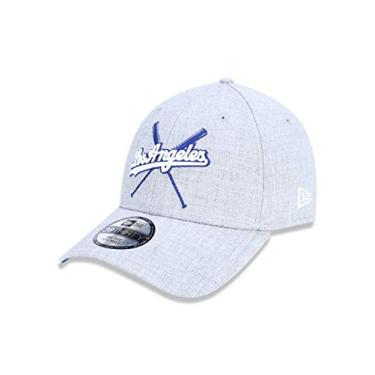 BONE 3930 LOS ANGELES DODGERS MLB ABA CURVA MESCLA CINZA NEW ERA 123572ffa61