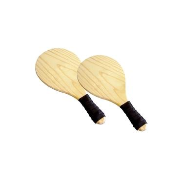 Raquete de Madeira Frescobol Tênis de Praia Esportes Lazer