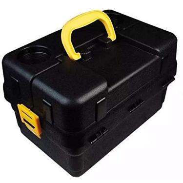 Imagem de Caixa Pesca 6 Bandejas Articuladas Hi + Enrolador (preta)