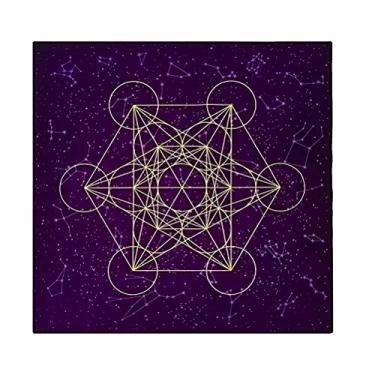 Imagem de PRETYZOOM Toalha de mesa de algodão para adivinhação de astrologia, decoração de mesa de festa, ornamentos de casa roxos