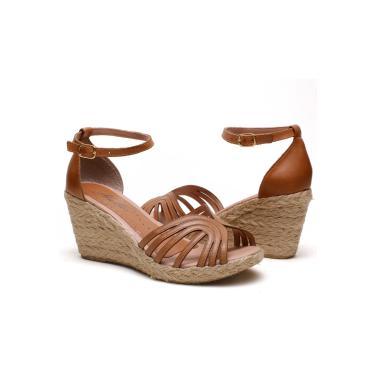 Imagem de Sandália Anabela Plataforma SB Shoes ref.1275 Caramelo  feminino