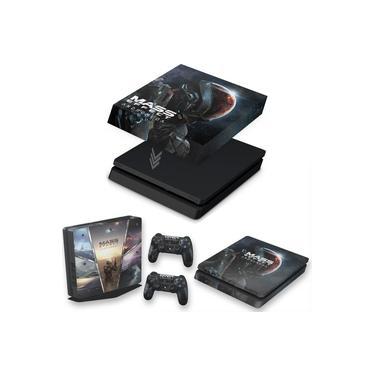 Capa Anti Poeira e Skin para PS4 Slim - Mass Effect: Andromeda