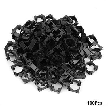 Armazene facilmente suporte de bateria 18650 Suporte de bateria, suporte de bateria, suporte de bateria 18650, suporte de bateria cilíndrica de 100 peças Suporte de bateria de íon de lítio