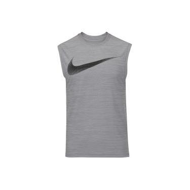 Camiseta Regata Nike Breathe Tank Muscle - Masculina - CINZA CINZA ESC Nike d6b463e2e67