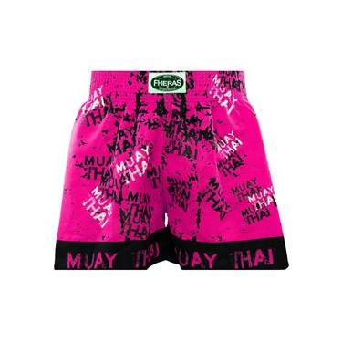 Shorts Boxe Muay Thai Fheras Training Grafite M