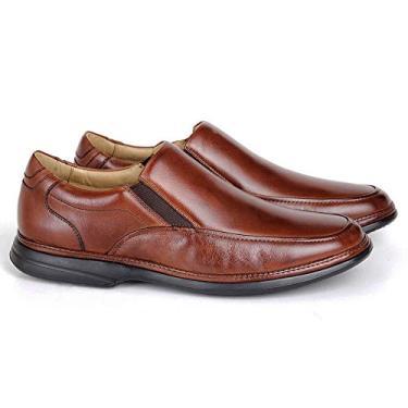 Sapato Massage 8353 De Calçar Em Couro Bronze Savelli