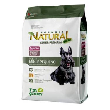 Ração Fórmula Natural Cães Adultos Sensitive Porte Mini Pequeno - 1 KG