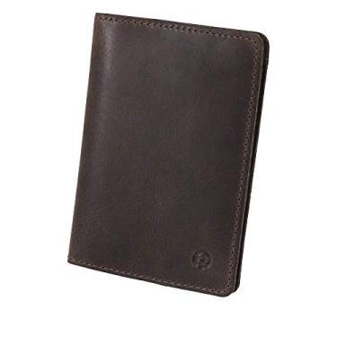 Carteira Masculina Slim Couro Legítimo Documentos, Cartão e Nota Couro50 Cuiabá (Tabaco)