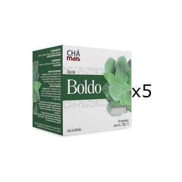 Chá de Boldo Kit com 5 Caixas de 10 Sachês cada