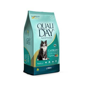 Ração Qualiday Cat Premium Sabor Salmão para Gatos Adultos Castrados - 20kg