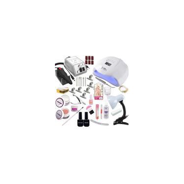 Imagem de Kit Unha Gel Completo Cabine Lixa Bivolt Alongamento