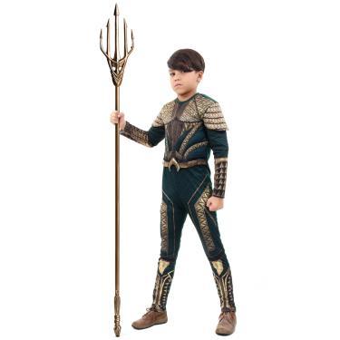 Imagem de Fantasia Aquaman Infantil Luxo - Liga da Justiça  P