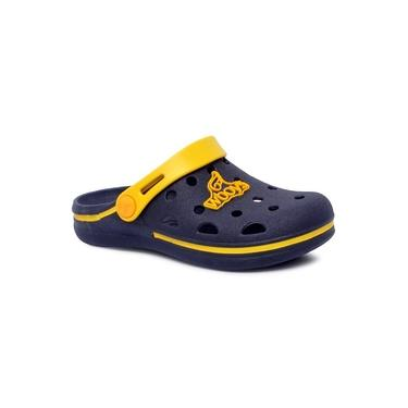 Sandália Infantil World Boys 127.002 Azul Marinho/Amarelo