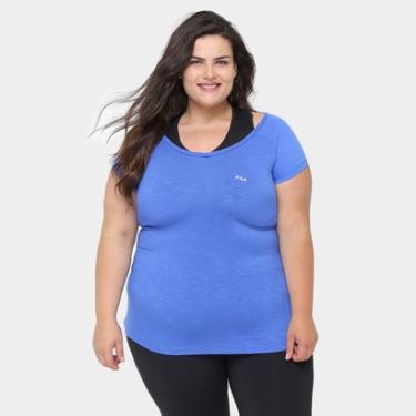 Camiseta Plus Size Fila Match Feminina - Feminino 0614ac43e6948