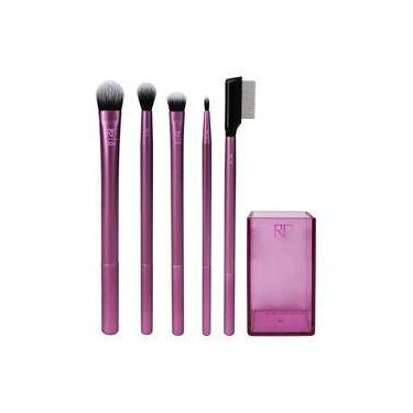 Real Techniques Enhanced Eye Set Kit - 5 Pincéis Olhos + Brush Cup