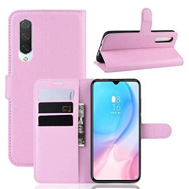 Capa Capinha Carteira 360 Para Xiaomi Mi 9 Lite Tela De 6.39Polegadas Case Couro Flip Wallet - Danet (Rosa)