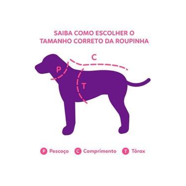 Roupa de Frio Camiseta Básica para Cachorro e Gato Pet - TAMANHO 02 - Azul - Bichinho Chic