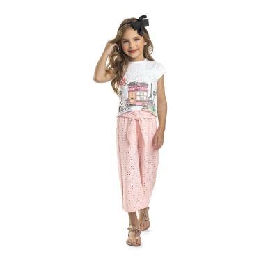 Blusa Infantil em Meia Malha Quimby, Branco, 04