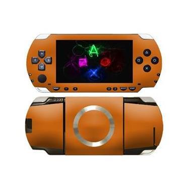 Kit Skin Adesivo Protetor PSP 1000 Fat (Laranja)