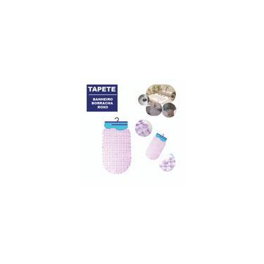 Imagem de Tapete Aderente Plástico Banheiro 36x66cm Cor: roxo