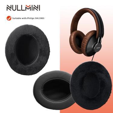 Imagem de Nullmini substituição veludo earpads para philips shl5905 SHL-5905 shl 5905 fones de ouvido