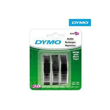 Fita Para Rotulador Manual, Blister Com 3 (9mm X 3m) Preto 1741670 - Dymo