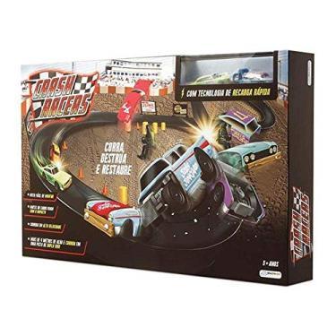 Pista Crash Racers 2 carrinhos +3 Anos Multikids BR1043