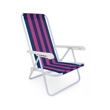 Cadeira Praia Reclinável 4 Posições Mor  - Sortidos