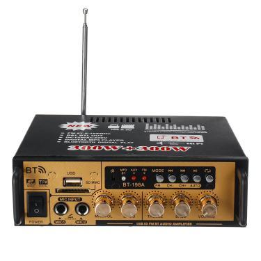 300 W + 300 W de Potência de Áudio Estéreo Amplificador bluetooth FM USB SD Casa KTV FM Rádio Music Player Banggood