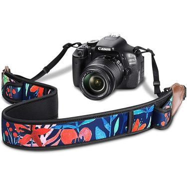 Imagem de Cinta de câmera Fintie com bolsos acessórios e fivelas de lançamento rápido, cinto de ombro do pescoço para Canon, Nikon, Sony, Pentax, Fujifilm e mais DSLR, Mirrorless, Instant/Digital Camera, Jungle Night