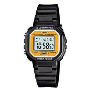 2593313ec8a0f Relógio Feminino Digital Casio LA-20WH-9ADF – Preto Amarelo