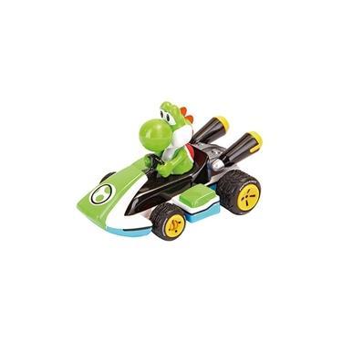 Carrinho de Fricção Mario Kart PS e Nintendo Yoshi 7cm 1:43 Carrera