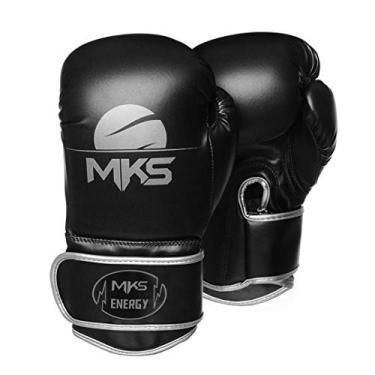 Luva de Boxe MKS Energy V2 Black & Silver (16 oz)