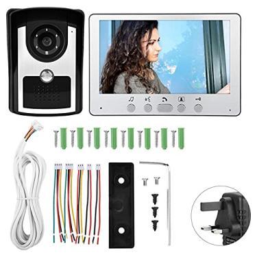 Imagem de Câmera campainha, interfone video porteiro à prova d'água de parede de 7 polegadas para(British regulations (110V-240V))