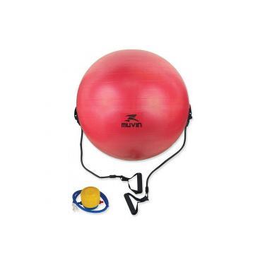 b77c5e8ae5 Bola de Pilates Suiça com Extensor Muvin BLG-400 - 65cm - VERMELHO Muvin