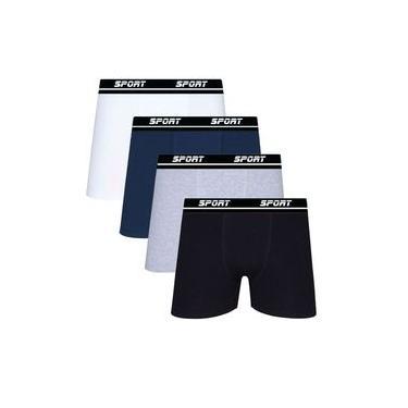 Kit 10 Cueca Boxer Algodão Lisa Sport Sortida Box SP72