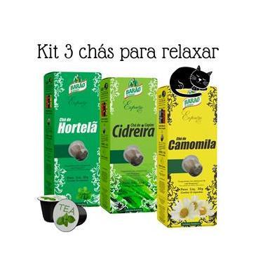 Chá Relax Cidreira Camomila Hortelã Barão Expresso 30 cápsul