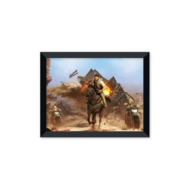 Poster de Uncharted Drakes - Deception Com Moldura - Preto