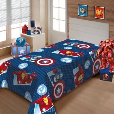 938708f3f5 Cobertor Manta Solteiro Infantil Vingadores Soft Jolitex