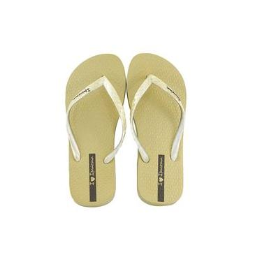 Chinelo Feminino Glamour Dourado Ipanema