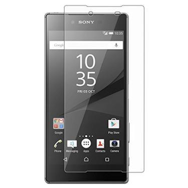 [2 unidades] Protetor de tela para Sony Xperia Z5, vidro temperado transparente, protetor de tela HD resistente a arranhões para Sony Xperia Z5 de 5,2 polegadas [não serve para Sony Xperia Z5 Premium/Sony Xperia Z5 Compact]