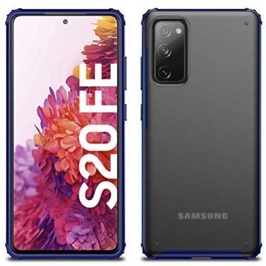 Imagem de MOONCASE Capa para Samsung Galaxy S20 FE, capa traseira ultrafina fosca transparente absorção de choque anti-queda capa ultraleve flexível para Samsung Galaxy S20 FE/Samsung Galaxy S20 FE 5G (azul)