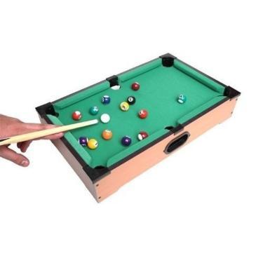 Mini Mesa De Sinuca Bilhar Snooker Completa