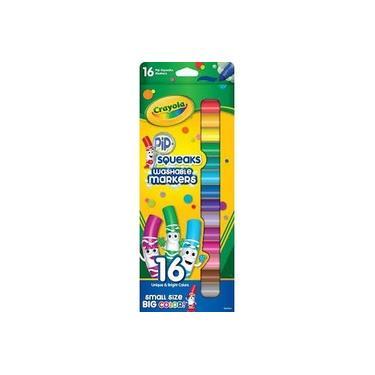 Canetinha Squeaks Washable Big Color c/16 - Crayola
